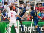 2012欧洲杯足球赛D组:法国1-1战平英格兰