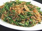 海南美食――鱿鱼丝韭菜