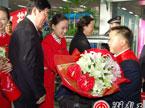 湖南劳模代表团载誉返湘